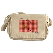 Ant Picnic on Red Checkered Cloth Messenger Bag