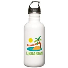 Retired Librarian (Tropical) Water Bottle