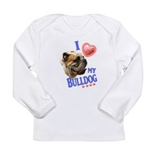 I Love My Bulldog Long Sleeve T-Shirt