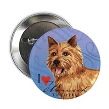 Norwich Terrier Button