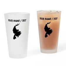 Custom Black Hawk Silhouette Drinking Glass