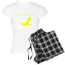 Custom Yellow Stork Silhouette pajamas