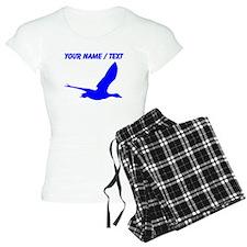 Custom Blue Stork Silhouette pajamas