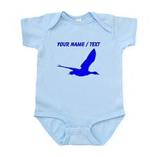 Custom Blue Stork Silhouette Body Suit