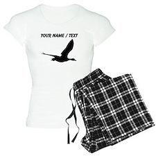 Custom Black Stork Silhouette pajamas