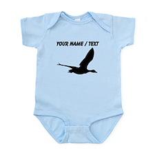 Custom Black Stork Silhouette Body Suit