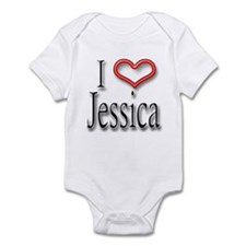I Heart Jessica Infant Bodysuit