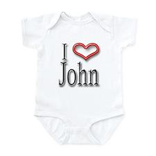 I Heart John Infant Bodysuit