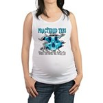 401ISitFRACTUREDskullblue copy.png Maternity Tank