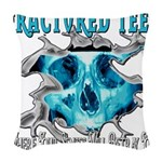 401ISitFRACTUREDskullblue copy.png Woven Throw Pil