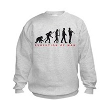 evolution of man clarinet player Sweatshirt