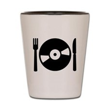 Vinyl DJ menu Shot Glass
