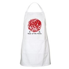 Paper Cut Chinese Year of The Horse Design Apron