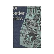 City Stamp Rectangle Magnet
