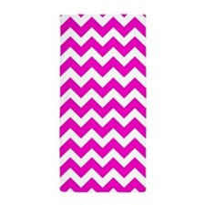 Chevron Fluorescent Hot Pink Beach Towel
