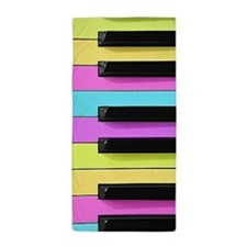 Piano Keys Neon Beach Towel