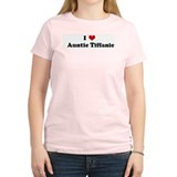 I Love   Auntie Tiffanie Women's Pink T-Shirt