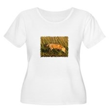 Red Fox Photo Plus Size T-Shirt