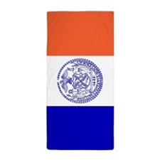 New York City Flag Beach Towel