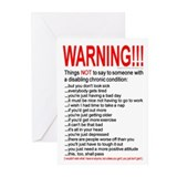 Chronic Condition Warning Greeting Cards -Pk of 10