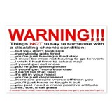 Chronic Condition Warning Postcards (Package of 8)