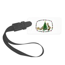 Squirrels Decorating Tree Luggage Tag