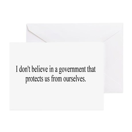 Government Protection? Greeting Cards (Package of