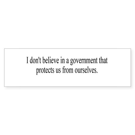 Government Protection? Bumper Sticker