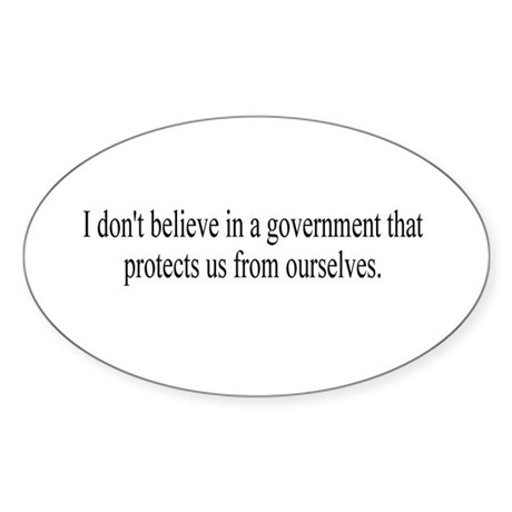 Government Protection? Oval Sticker