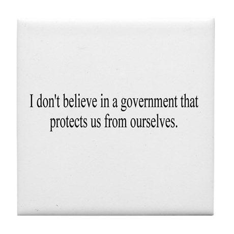 Government Protection? Tile Coaster