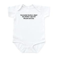Mountain Dog: people I meet Infant Bodysuit