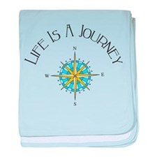 Life Is A Journey baby blanket