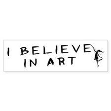 The Art Fairy Bumper Car Sticker