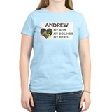 Andrew: My Hero Women's Pink T-Shirt