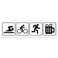 Swim Bike Run Drink Car Sticker