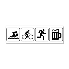 Swim Bike Run Drink Car Magnet 10 x 3