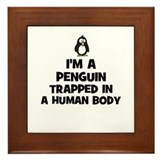 I'm a penguin trapped in a hu Framed Tile
