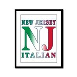 New Jersey Italian Framed Panel Print