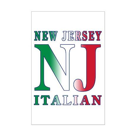 New Jersey Italian Mini Poster Print