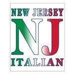 New Jersey Italian Small Poster