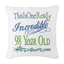 IncredibleGreen98.png Woven Throw Pillow