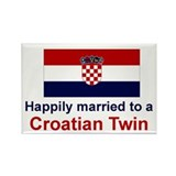 Croatian Twins (Married To) Rectangle Magnet