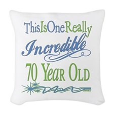 IncredibleGreen70.png Woven Throw Pillow