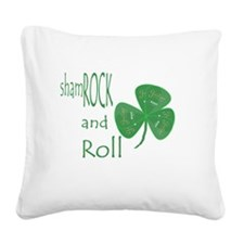 Guitar Pick shamROCK and Roll Square Canvas Pillow