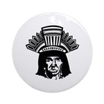 American Indian Ornament (Round)