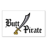 Butt Pirate Rectangle Decal