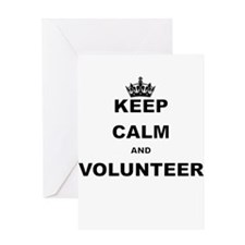 KEEP CALM AND VOLUNTEERO GREEN Greeting Cards