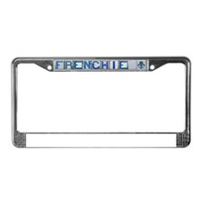 Frenchie License Plate Frame
