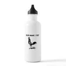 Custom Rooster Skeleton Sports Water Bottle