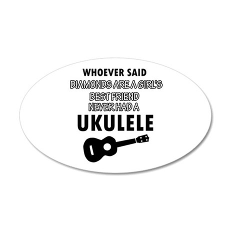 Ukulele Design better than Diamonds 20x12 Oval Wal